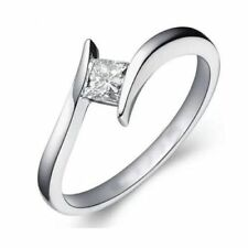 Stunning 1/4 Cts F/VS1 Princess Cut Natural Diamonds Engagement Ring In 18K Gold