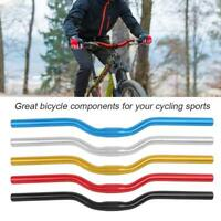 Mountain Bike Bicycle Riser Bar Handlebar Aluminum Alloy 25.4mm*520mm Durable