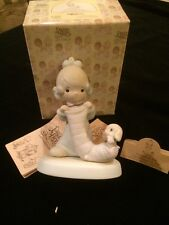 Figurine Precious Moments E2361 Christmas Joy From Head To Toe Cross symbol Nib