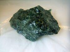 Natural Raw Serpentine - Beautiful dark clear green 160mm 815g jt232