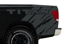Custom Vinyl Graphics Decal Wrap Kit for Nissan Titan 2004-13 Rear Quarter GRAY