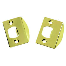 2-Pack Hickory First Watch 1065 Full Lip Steel Door Strikes Gold Polished Brass
