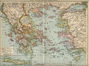 Cartina Della Grecia Antica In Italiano.Mappe Cartine E Atlanti Di Antiquariato Stranieri Grecia Acquisti Online Su Ebay