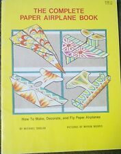 Complete Paper Airplane Book How To Make Decorate Fly Planes Shulan 1979 Rare!