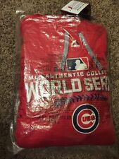 Red Medium Majestic Cubs 2016 Authentic On-Field World Series Streak Hoodie - M