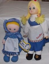 (Group of 2) Fabric Advertising Dolls (Blue Bonnet Sue & Swiss Miss)