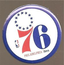 Philadelphia 76ers NBA Team Basketball Button Pin