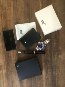 NEW Montblanc Meisterstuck Black Leather Wallet Mint Condition With Box