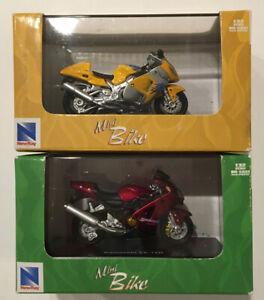 Suzuki GSX 1300R Diecast 1:32 Kawasaki ZX-12R NEWRAY MINI MOTORBIKE LOT OF 2