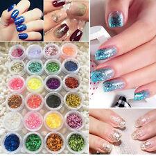 1 36 Farben Glitter Gel UV Gel Farbgel Set Polish Nagelgel Nailart Glitzernd Pop