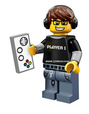 Lego Mini Figure #71007 #4 VIDEO GAME GUY Series12 Includes poster & Online code