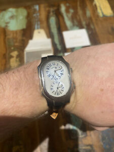 """Philip Stein """"Signature"""" Dual Time Mens Watch"""