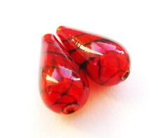 octagon klar Kronleuchter Lüster Kristall Glas Tropfen 63mm Farbe rubin rot