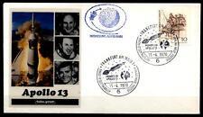 Apollo 13. Mondflug 15.4.1970, Astrophilatelie. SoSt, Frankfurt. BRD 1970