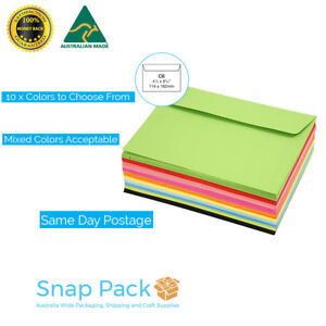Colored C6 Envelopes Party Wedding Invitation 15 COLORS TO CHOOSE FROM. 90GSM