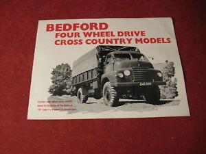 1953 Bedford Bus Truck semi rig Sales Brochure Booklet Catalog Book Old