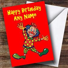 RED CLOWN personalizzato compleanno auguri carta