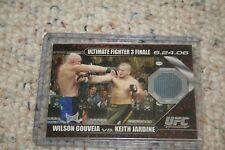 Wilson Gouveia Vs. Keith Jardine 2009 Topps UFC Round 1 Fight Mat Relic DMGJ