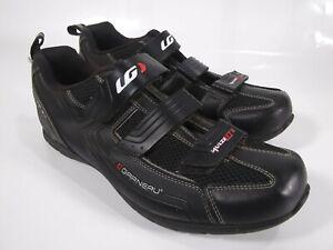 LG Garneau HRS-80 Black Bike Cycling Shoes Size 11.5 EUR 45 UK 10.5
