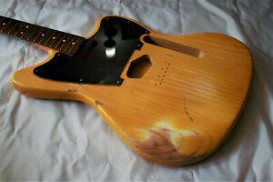 Jazz Master Mustang Telemaster Relic Guitar Body Ash Alder Nitrocellulose Finish