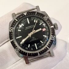 Genuine Seawatch Swiss Made Vintage Divers Watch 23 Jewels Mechanical Hand Wind