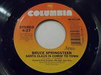 Bruce Springsteen Santa Claus Is Coming To Town / My Hometown 45 Vinyl Record