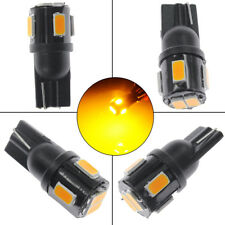 4PCS T10 High Power 5630 SMD LED Yellow License Plate Light Backup Reverse Bulbs