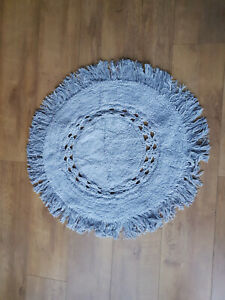 URBAN OUTFITTERS HOme Light Grey Round Bath Bathroom Mat - NEW