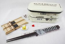 お弁当 BENTO BOX - Kit G&B BLANC + élastiques + baguettes MADE IN JAPAN 01