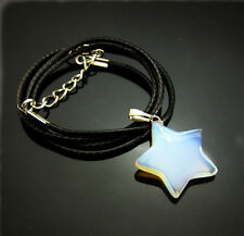 opal Natural gemstones star Reiki Chakra Pendant Beads Charms Necklaces gift