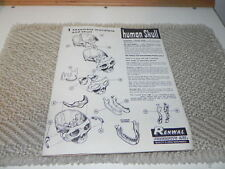 Pre-owned Human Skull Instructions.. Renwal Products #821