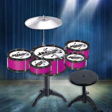 Kids Drum Kit Play Set Drums Cymbal Musical Instrument Pedal Stool UK stock