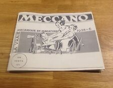 Copie de catalogue Hornby Meccano Dinky Toys 1932 - 1936 Train Canot Voiture