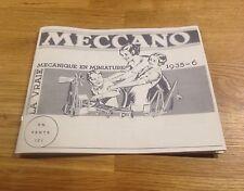 Copie de catalogue Hornby Meccano Dinky Toys 1932 - 1936 Train Canot Voiture