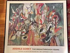 ARSHILE GORKY RARE LITHO PRINT EXHBT POSTER Milkweed Breakthrough Years 1995 NGA