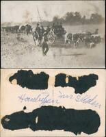 Foto  Deutsch-Südwestafrika Kolonie WK1 Namibia Haubitzen DSWA 1913 Privatfoto