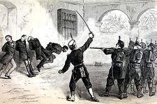 Santiago de Cuba Killing of RYAN VARONA DEL SOL CESPEDES 1873  Art  Print Matted