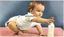 1940's Calendar Art ithograph, Growing Up, Baby, A Scheer Publisher, #867