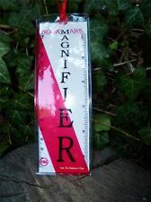 Magnifier Fresnel lens Bookmark & Magnifying Ruler Bushcraft, Hiking, Survival