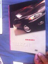 1998 Hyundia Tiburon Tuscani Original Color Brochure Catalog Prospekt