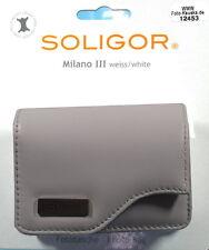 Soligor Milano III Foto Tasche weiss/white Leder leather case poche  - (12453)