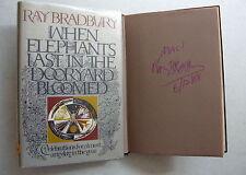 WHEN ELEPHANTS LAST IN THE DOORYARD BLOOMED - Ray Bradbury (1973) 1st SIGNED