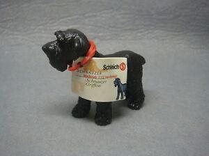 RARE! Retired Schleich Dog Dogs Animal Model Black Schnauz With Tag Figure 16306