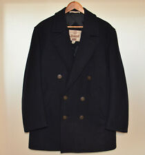 Men Gloverall Casual Wool Black Pea Coat Jacket GB 38 EUR 48 M Excellent