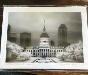 """Infrared Photograph 5 X 7"""" Russell Grace Kullmann OLD  COURTHOUSE St. Louis, MO"""