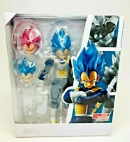 Dragon Ball Super VEGETA 6 in PVC Figure,Saiyan Blue & God Head Hands USA Seller