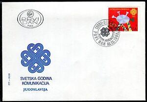 2021b - Yugoslavia 1983 - World Communications Year - FDC
