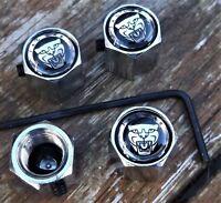 LOCKABLE JAGUAR CAR DUST/VALVE CAPS lock anti theft van bike tyre metal