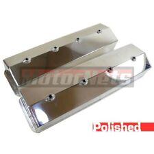 Small Block Chevy Fabricate Polish Aluminum Tall Valve Cover Sbc Centerbolt 350