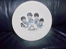 THE BEATLES OFFICIAL WASHINGTON POTTERY HANELY ENGLAND WHITE BLUE PLATE AWESOME